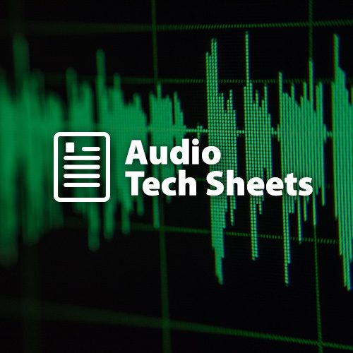 Audio Tech Sheets from Earthworks